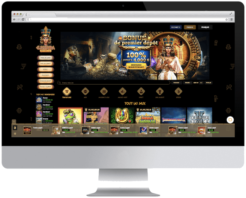 cleopatra bitcoin casino games