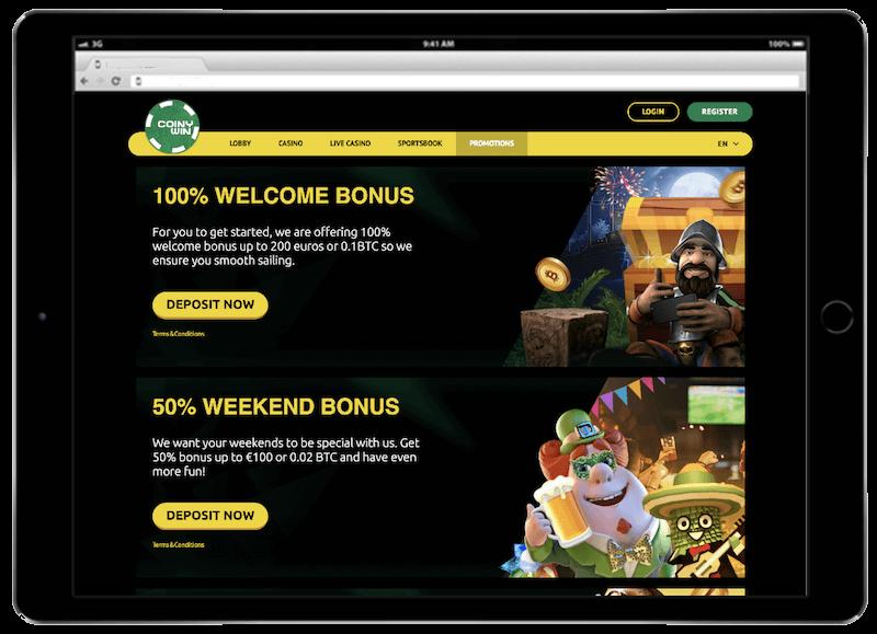 coinywin bitcoin casino bonus