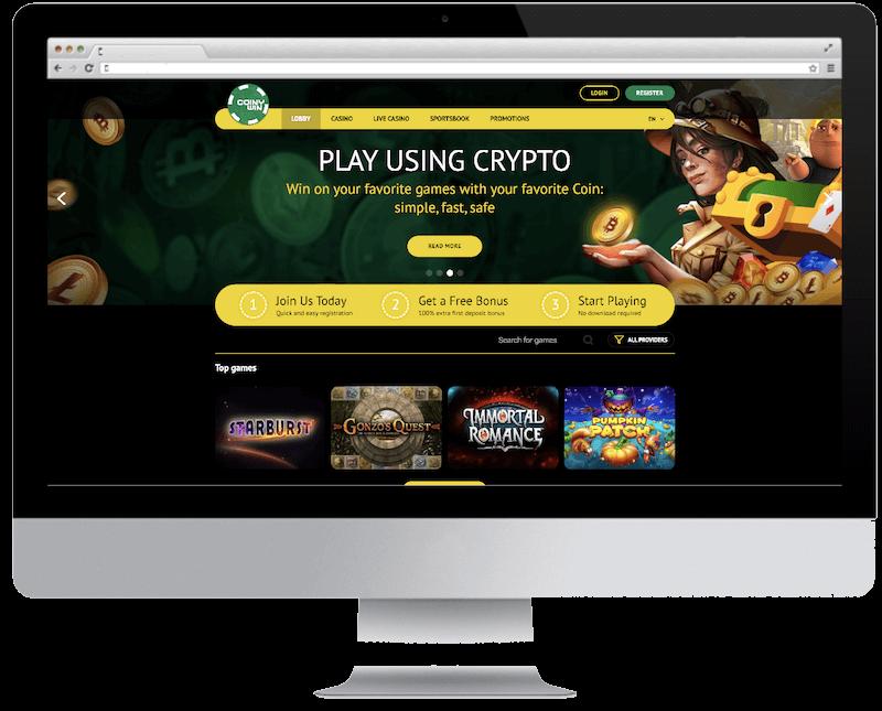 coinywin bitcoin casino games