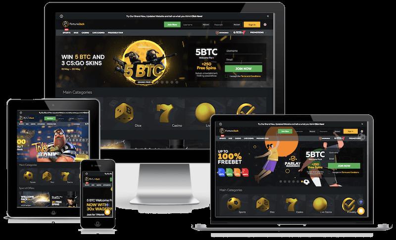 fortunejack bitcoin casino mobile