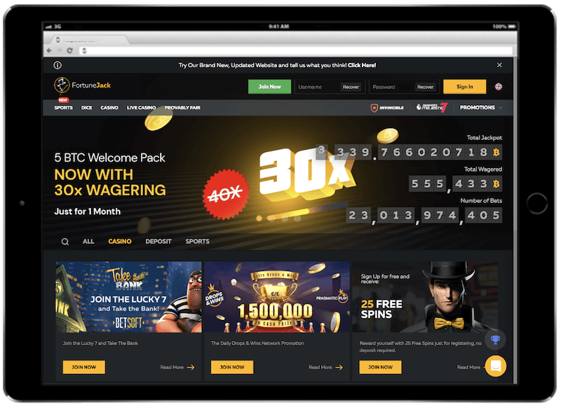 fortunejack bitcoin casino bonus
