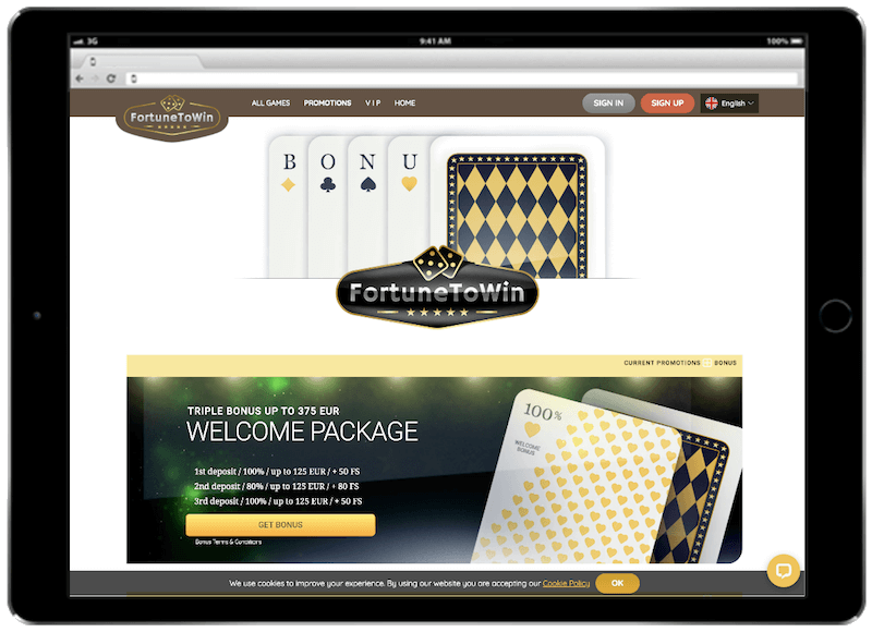 fortunetowin bitcoin casino bonus