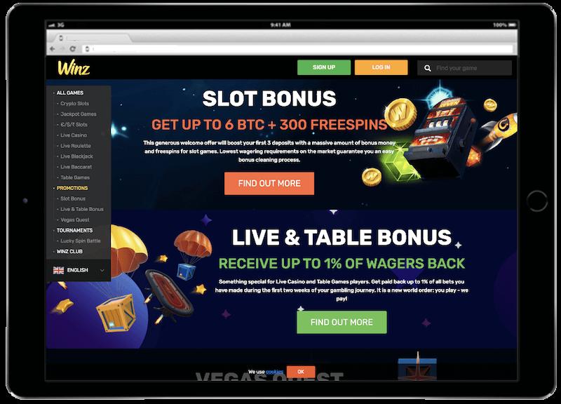 winz bitcoin casino bonus