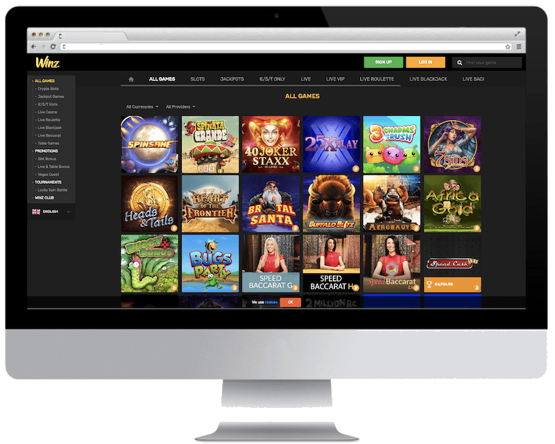 winz bitcoin casino games