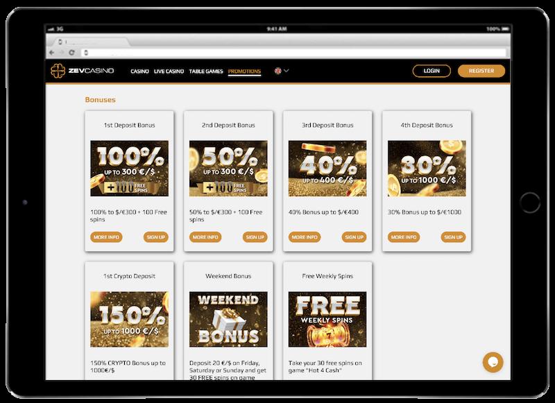 zev bitcoin casino bonus