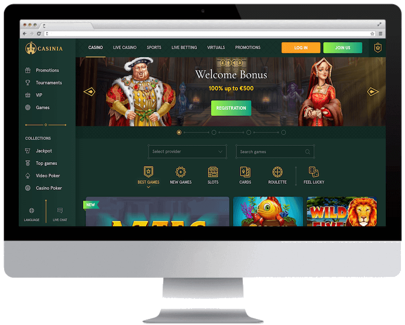 casinia bitcoin casino games