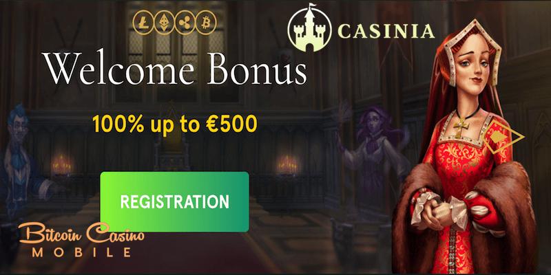 casinia bitcoin casino no deposit free spins