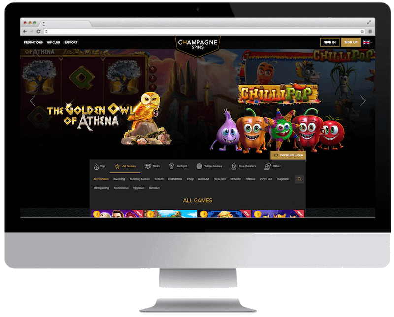 champagne spins bitcoin casino games
