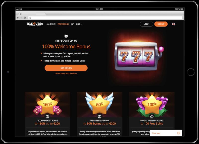 televega casino bitcoin casino bonus